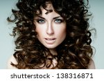 beautiful brunette with... | Shutterstock . vector #138316871