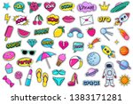modern cute colorful patch set... | Shutterstock .eps vector #1383171281