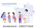 children vaccination concept... | Shutterstock .eps vector #1383171464