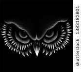 The Vector Logo Owl For Tattoo...