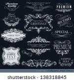 retro greetings calligraphic... | Shutterstock .eps vector #138318845