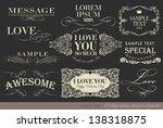 calligraphic vintage love... | Shutterstock .eps vector #138318875