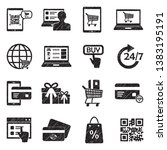 online shopping icons. set 2.... | Shutterstock .eps vector #1383195191