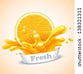 juicy orange | Shutterstock .eps vector #138321311