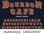 3d vintage font typeface vector ... | Shutterstock .eps vector #1383220547
