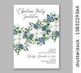 poinsettia christmas party...   Shutterstock .eps vector #1383229364