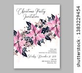 poinsettia christmas party...   Shutterstock .eps vector #1383229454