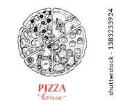 italian pizza vector...   Shutterstock .eps vector #1383233924