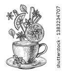 vector illustration of tea cup... | Shutterstock .eps vector #1383234707