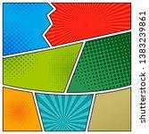 comics book background in...   Shutterstock . vector #1383239861