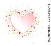 heart and flowers frame. mother'... | Shutterstock .eps vector #1383243041