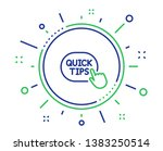 quick tips click line icon.... | Shutterstock .eps vector #1383250514