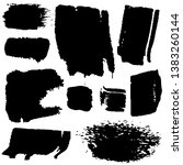 set of paint strokes with a dry ...   Shutterstock .eps vector #1383260144