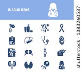 medicine icon set and dna with...