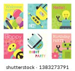 robot waving  robotic dog... | Shutterstock .eps vector #1383273791