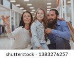 beautiful woman pointing away... | Shutterstock . vector #1383276257