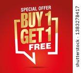 buy 1 get 1 free in brackets... | Shutterstock .eps vector #1383278417