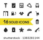 service icons set with belt ...