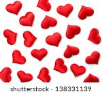 red hearts background on white | Shutterstock . vector #138331139