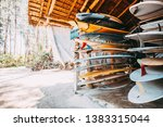 set of different colorful surf... | Shutterstock . vector #1383315044