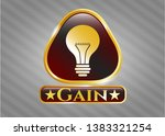 gold badge or emblem with... | Shutterstock .eps vector #1383321254