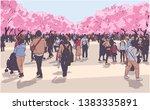 vector illustration of cherry... | Shutterstock .eps vector #1383335891