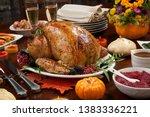 roasted pepper turkey for...   Shutterstock . vector #1383336221
