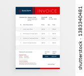 professional red invoice... | Shutterstock .eps vector #1383340481