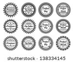 set of many different stamps  | Shutterstock .eps vector #138334145