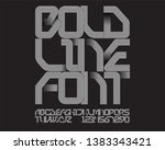 bold font with stripe texture  | Shutterstock .eps vector #1383343421