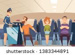 avia passengers. boarding... | Shutterstock .eps vector #1383344891