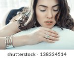Brunette Lady With Jewelry...
