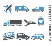 transport icons   a set of...