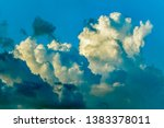 cumulus clouds  large and small ... | Shutterstock . vector #1383378011