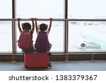 two cute asian child girls with ...   Shutterstock . vector #1383379367