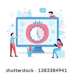 developers use the pomodoro... | Shutterstock .eps vector #1383384941
