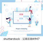project sheduling. time... | Shutterstock .eps vector #1383384947