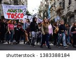 Small photo of Buenos Aires, Argentina; september, 09, 2017. Mobilization of secondary students in repudiation of educational reforms of the Macri government