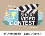 short video contest...   Shutterstock .eps vector #1383390464