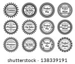 set of many different stamps  | Shutterstock . vector #138339191