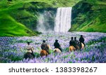 Tourists Ride Horses At The...
