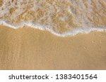 soft waves with foam of ocean...   Shutterstock . vector #1383401564