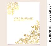 invitation greeting card with... | Shutterstock . vector #1383428897
