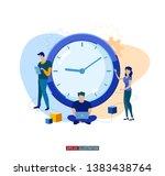 trendy flat illustration. time... | Shutterstock .eps vector #1383438764