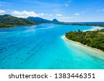 aerial drone view of french... | Shutterstock . vector #1383446351