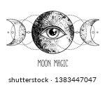 eye of providence. masonic... | Shutterstock .eps vector #1383447047