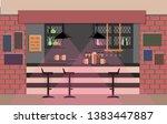 bar counter in pub. flat...   Shutterstock . vector #1383447887
