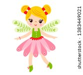 fairy is standing on a white... | Shutterstock .eps vector #1383449021