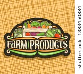 vector logo for farm products ... | Shutterstock .eps vector #1383450884