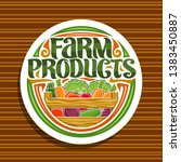 vector logo for farm products ... | Shutterstock .eps vector #1383450887
